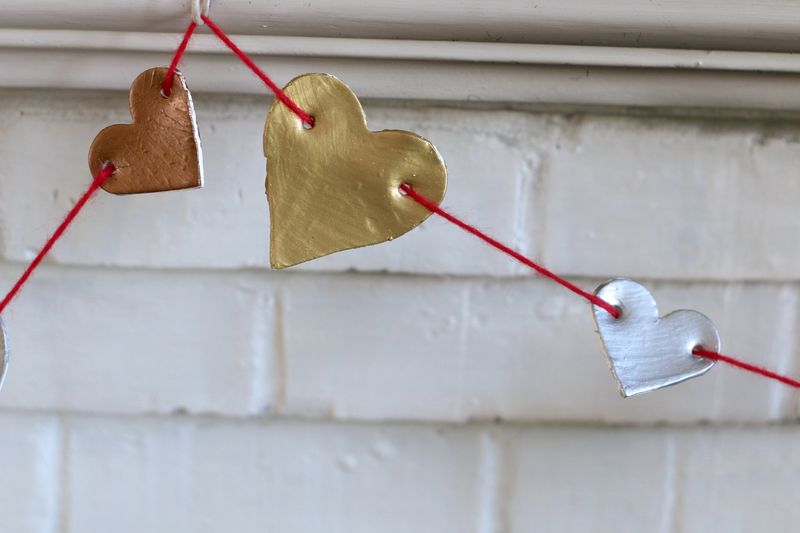 Polymer clay metallic bunting