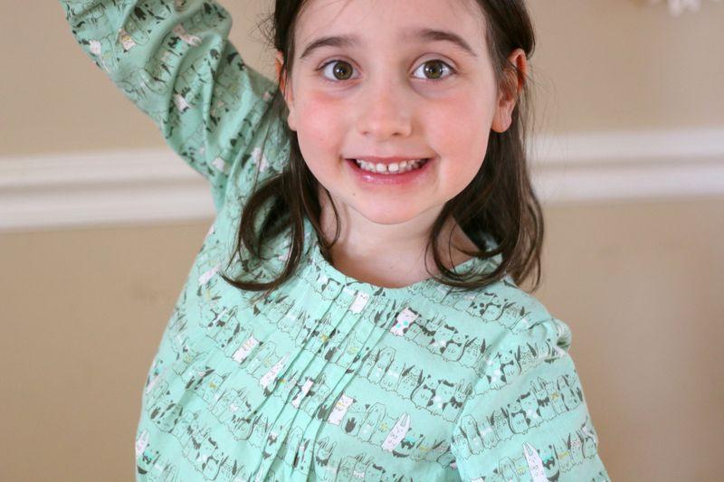 Birthday dress pleats