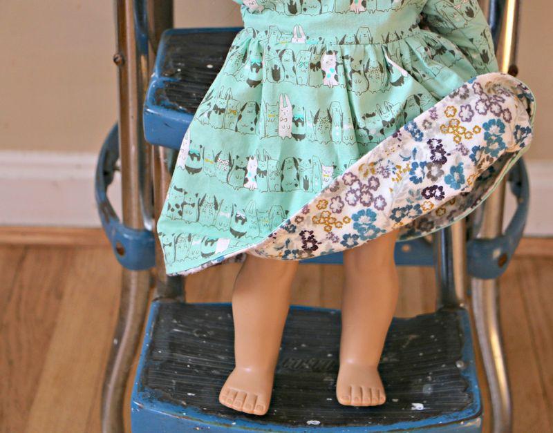 Reversible doll dress