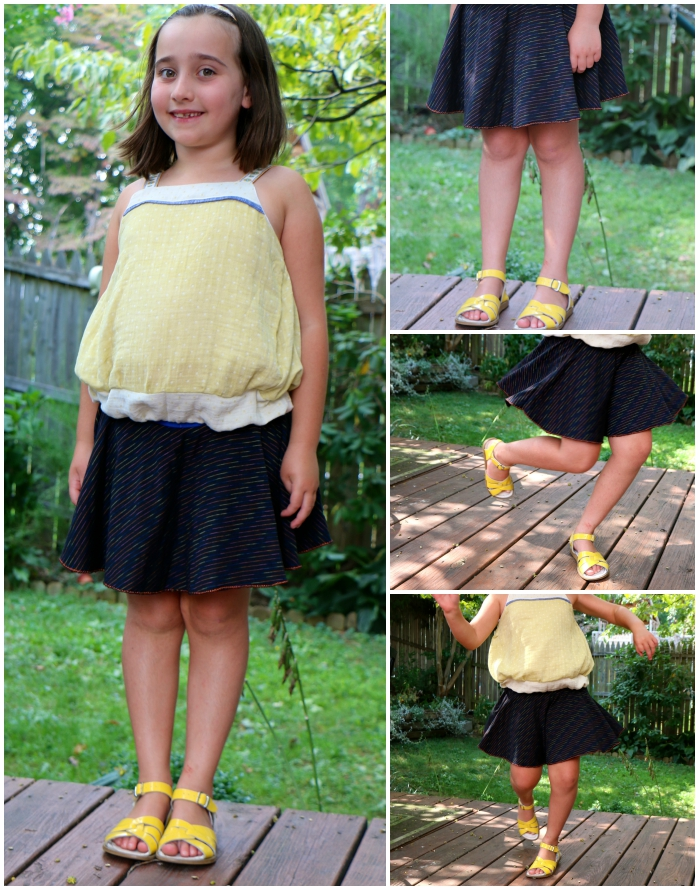 Twirly knit circle skirt Collage