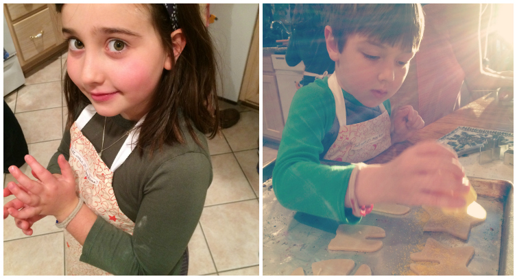 Cookie making Collage