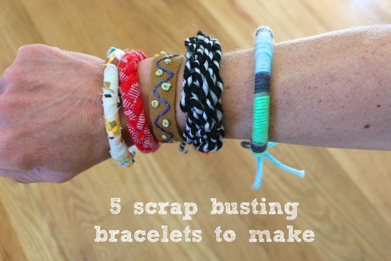Scrap busting bracelets